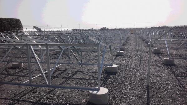 埼玉県加須市 野立て用太陽光発電用架台